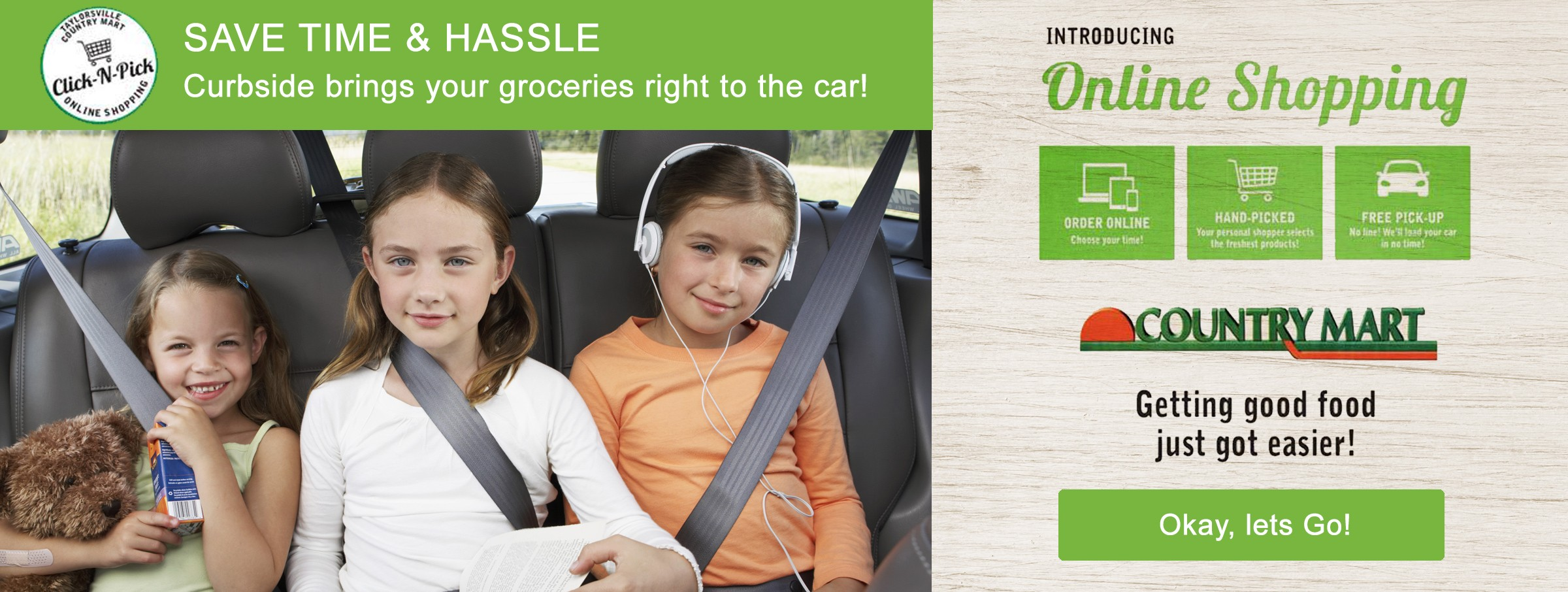 Introducing Online Shopping: Curbside brings your groceries right to the car!